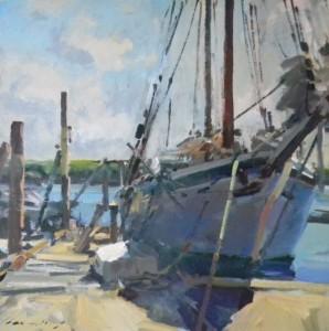 Walls Fine Art Gallery|Charles Movalli|Paint Wilmington|fine art|Wilmington galleries|Wilmington gallery|North Carolina Galleries|Gloucester Artist| Massachusetts |acrylic paintings|boat repair|working Boats| Atlantic ocean|Cape Ann|Rockport|schooner