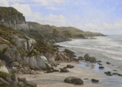 "Robert Hagberg ""Westhaven"", oil, 24x48, 8000"