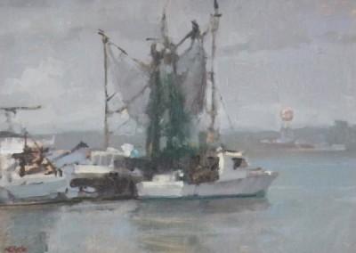 "Randall Sexton - ""Dockside"", 12x16, Oil"