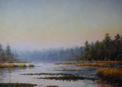 Perry Austin - Low Tide, Morning Mist, 36x48, oil, 9000