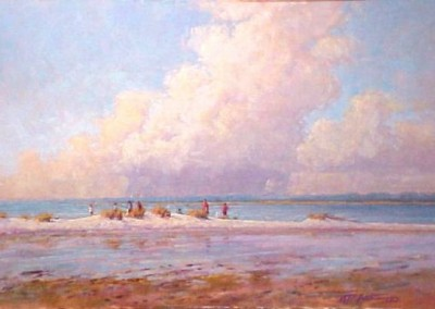 Perry Austin - Fishing The South End Of Wrightsville, 24x36, SOLD