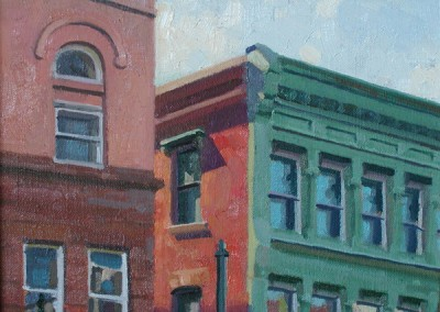 """Robert Morin Isley - """"Rooftops"""", Oil,  Sold"""
