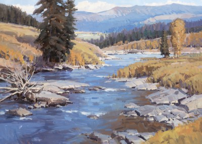 "John Poon - ""High Country Autumn"", 30x40, acrylic, SOLD"