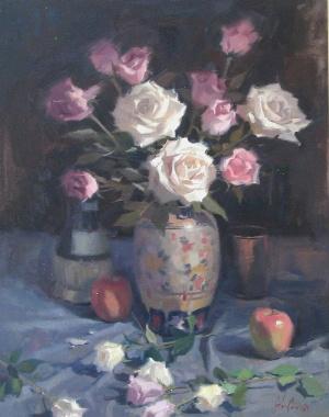 John Poon - Roses, 30x24,  SOLD