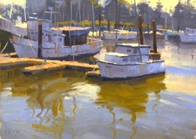 "Larry Moore - ""Moss Landing"", 12x16, Oil"
