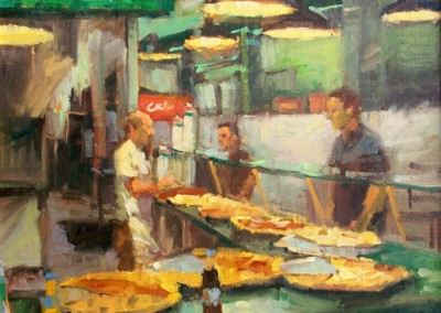 "Larry  Moor - 	""One Slice or Two"", 20x20, Oil, SOLD"
