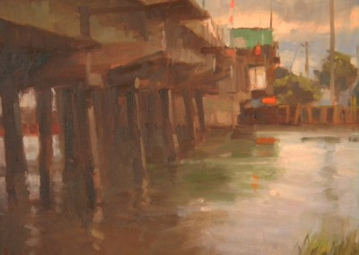 "Larry  Moore - ""Wrightsville Draw Bridge"", Oil, SOLD"