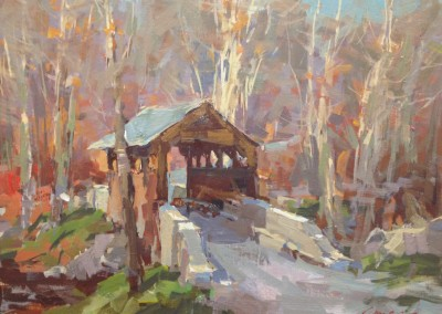 "Steve Songer -  ""Herns Mill Bridge"", 11 x 14, Acrylic"
