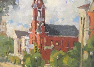 """Steve Songer - """"3rd Street"""", 16x12, Oil"""