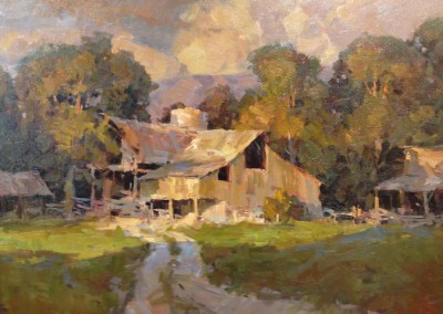 "Steve Songer - ""Farmington Barn"", 24x30, Oil"