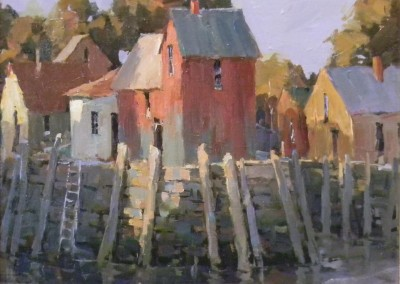 "Steve Songer - ""Gloucester"", 12x14, Oil, SOLD"