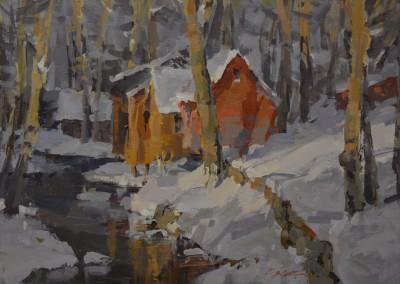 """Steve Songer - """"Hermitage"""", 12x16, Oil"""
