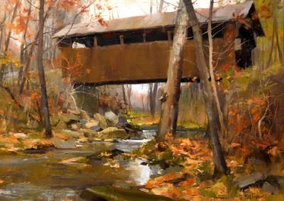 "Kenn Backhaus - ""Herns Mill Bridge"", 16x20, Oil"