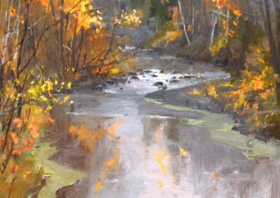 """Kenn Backhaus - """"Howards Creek"""",  9x12, Oil"""