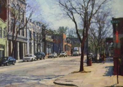 "Cameron Smith - ""Dock Street"", 30x40, Acrylic, SOLD"