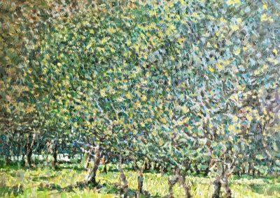 """Cameron Smith - """"Maritime Wood"""", 12x12, oil over acrylic"""