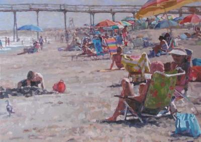 """Cameron Smith - """"Beach Day"""", Acrylic, SOLD"""