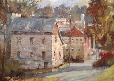 "Roger Dale Brown - ""Barracks"", 16x12, Oil, Sold"