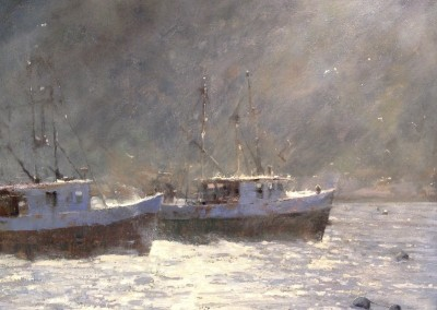 """Roger Dale Brown - """"Glimmering Evening"""", 24x30, Oil, Sold"""