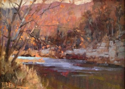 "Roger Dale Brown - ""Greenbrier River"", 12x16, Oil, Sold"