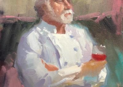 """Randall Sexton - """"New Menu"""",  12x16, Oil"""