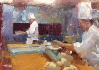 "Randall Sexton - ""Kitchen"", 12x16, Oil, SOLD"