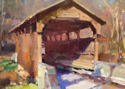 "Randall Sexton - ""Covered Bridge"", 12x16, Oil"