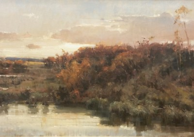 """Roger Dale Brown - """"Evening Marshes"""", 30x60, Oil, Sold"""