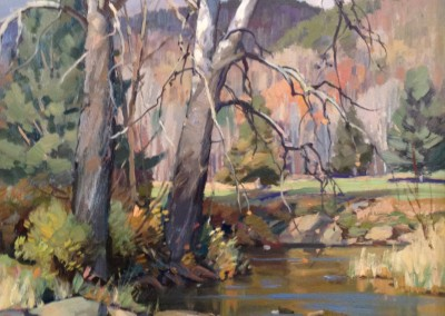"TM Nicholas - ""Trout Pool at the Greenbrier"", 20x16, oil SOLD"