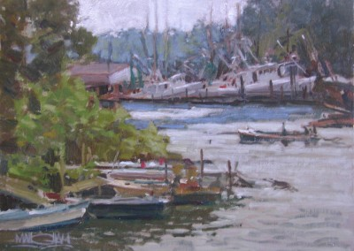 "William Maughan - ""Inland Harbor"", 12x16, Oil"