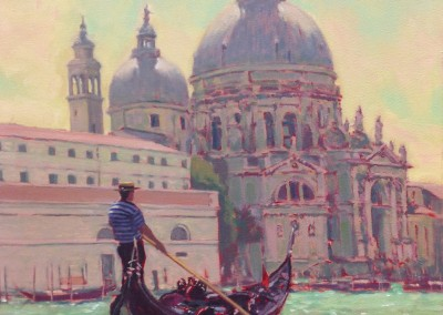 "William Maughan - ""Gondolier On  The Canal"", 20x24, Oil"