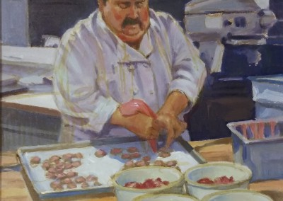 "William Maughan - ""Strawberry Icing"",  12x9, Oil"
