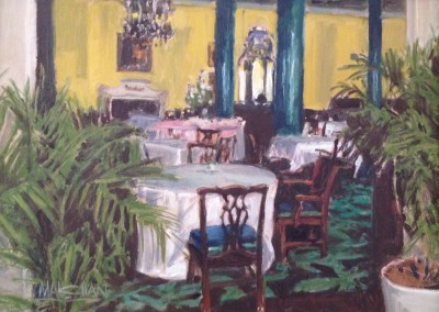 "WilliamMaughan - ""Main Dining"", 9x12, Oil,  SOLD"