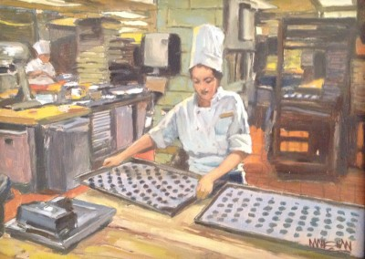"William Maughan - ""Pastry Chef"", 9x12, Oil, Sold"
