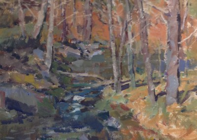 "Charles Movalli -  ""At The Bridge"",  20x24, acrylic, $4500"