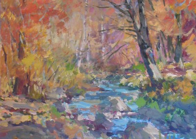 """Charles Movalli - """"Fall"""", 20x24, Acrylic, SOLD"""