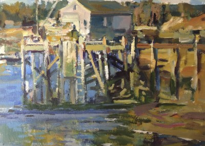 "Charles Movalli - ""Long Legs Low Tide"", 20x24, acrylic, SOLD"