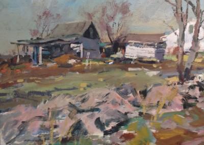 "Charles Movalli - ""Old Farm"", 20x24, acrylic, $4500"
