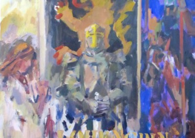 "Charles Movalli- ""Operalohengrin"", 30x30, Acrylic, SOLD"