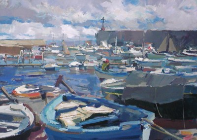 """Charles Movalli - """"Port"""", 36x48, Acrylic, SOLD"""