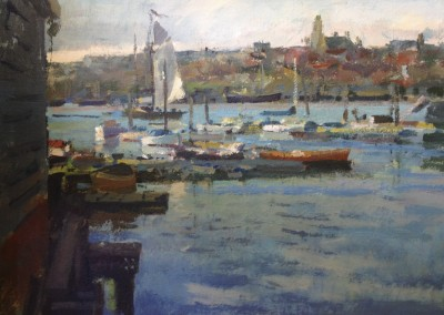 """Charles Movalli - """"Sailing Home"""", 24x30, Acrylic, SOLD"""