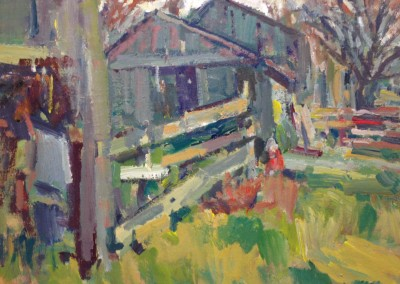 "Charles Movalli - ""The Horse Farm"", 16 x 20, Acrylic, SOLD"