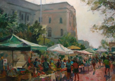 """Charles Movalli - """"Water Street"""", 30x40, Acrylic, SOLD"""