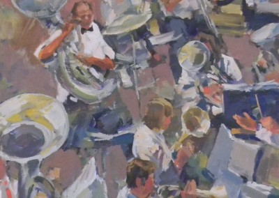 """Charles Movalli - """"The Orchestra"""", 36x36, Acrylic, SOLD"""