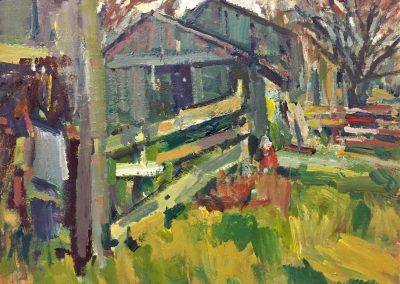 "Charles Movalli - ""Horse Farm"", 16x20, acrylic, $4000"