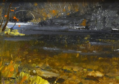 "Roger Dale Brown - ""Greenbrier Bend"", 8x14, oil"
