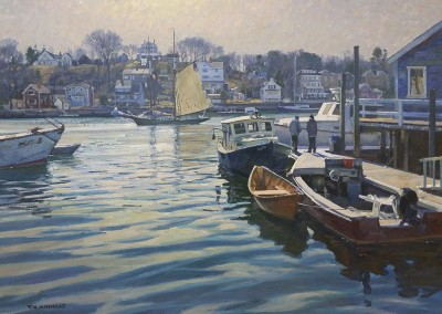 "TM Nicholas - ""Smith Cove, Gloucester"" 30x40, oil"