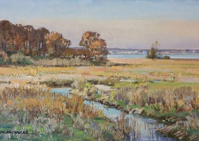 "TM Nicholas - ""Warm Marsh Light"", 8x12, oil SOLD"