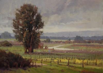 "John Poon - ""Grey Day"", 12x16, Acrylic. sold"