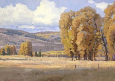 "John Poon - ""Autumn Harmonies"", 16x20, Acrylic, SOLD"